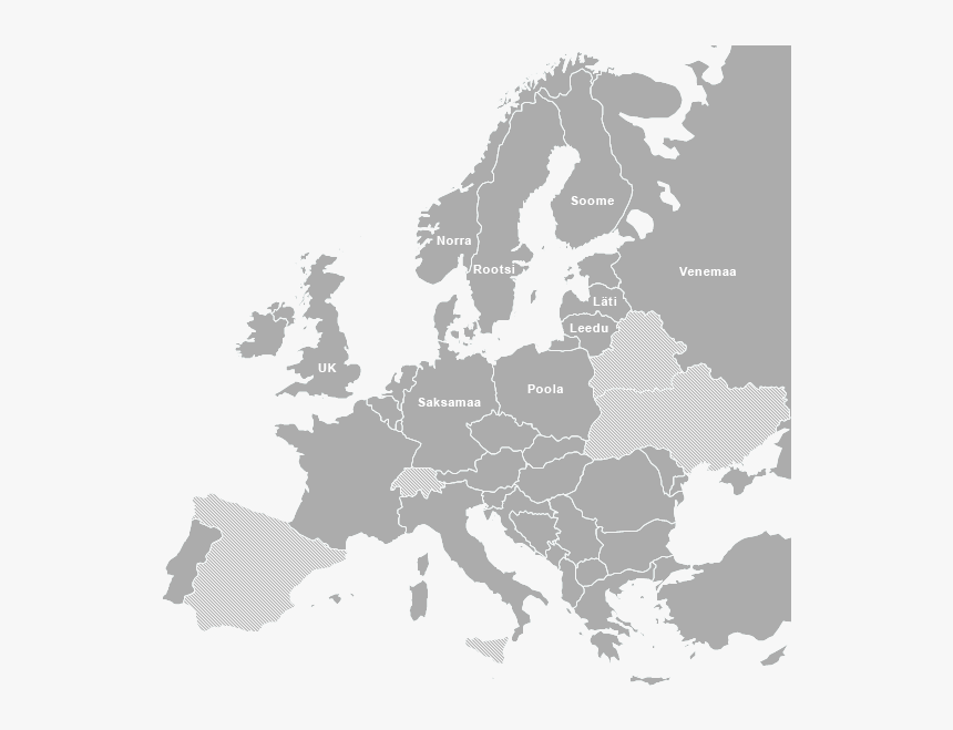 Blank Map Of Europe Svg, HD Png Download, Free Download