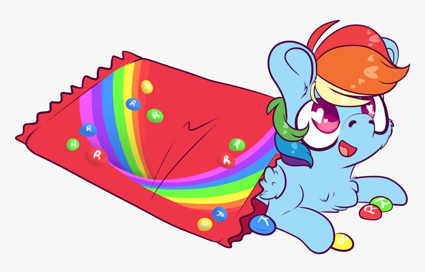 Skittles Rainbow Dash - Rainbow Dash Skittles, HD Png Download, Free Download
