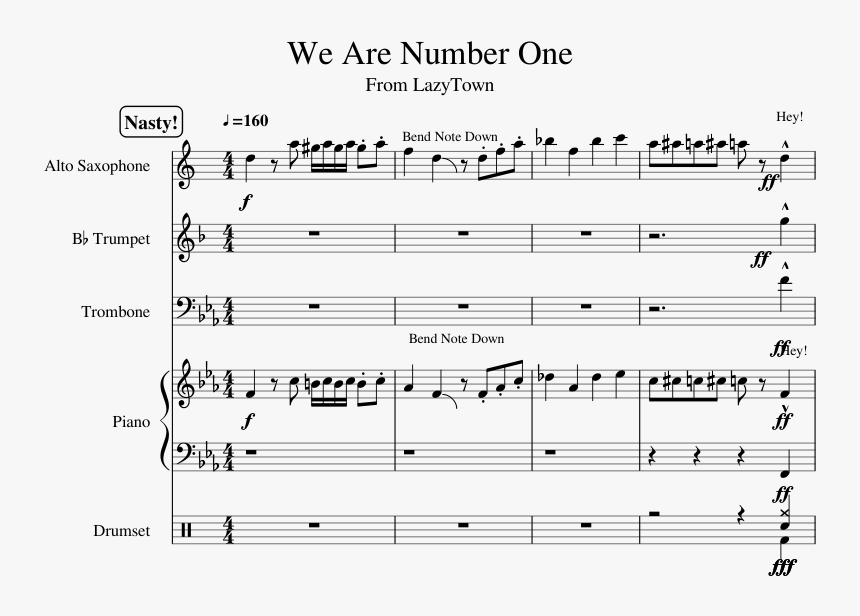 We Are Number One Sheet Music Trumpet, HD Png Download, Free Download