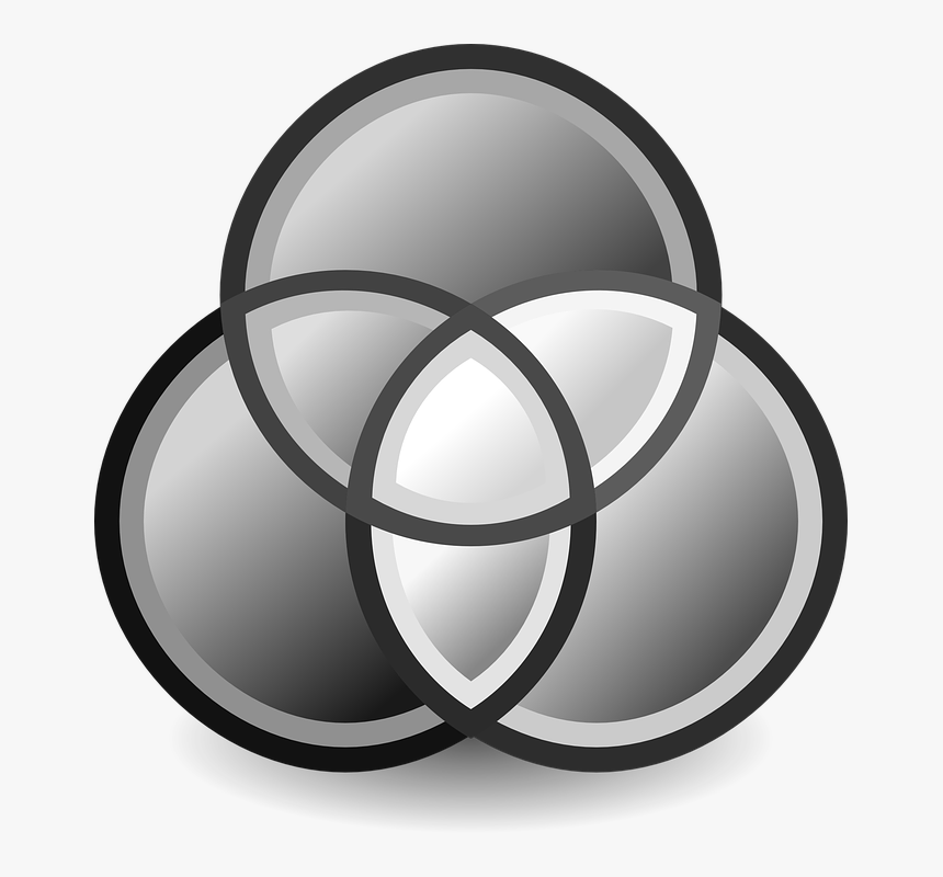 Venn Diagram, Set Diagram, Diagrams, Logical, Relations - Grayscale Icon Png, Transparent Png, Free Download