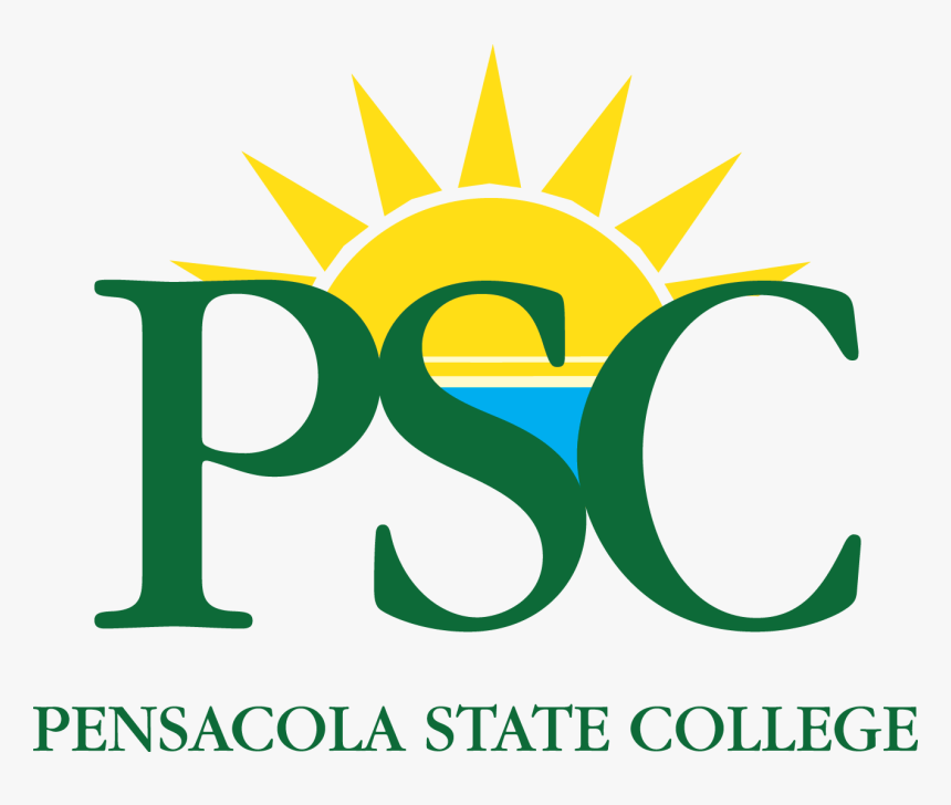 Decorative Image Of Psc Vertlogo1 Cmyk W3ar1w , Branding - Pensacola Junior College Logo, HD Png Download, Free Download
