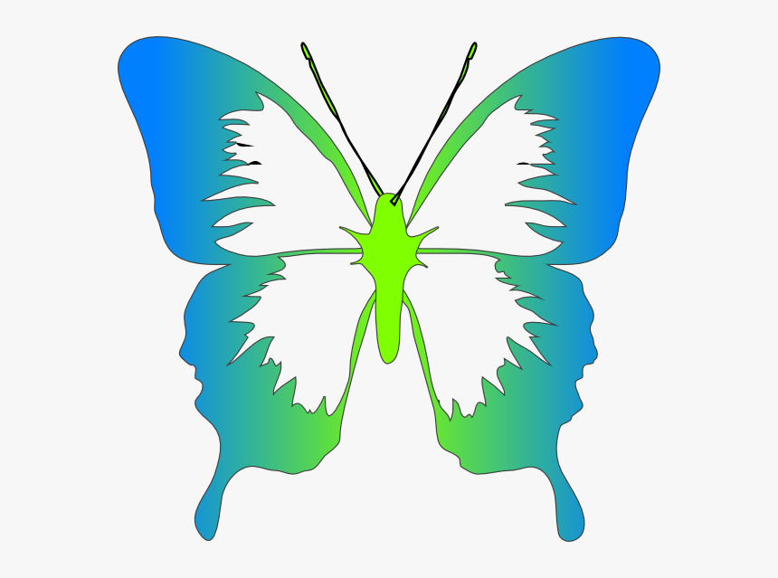 Bg Butt Svg Clip Arts - Cartoon Butterfly Images Black And White, HD Png Download, Free Download