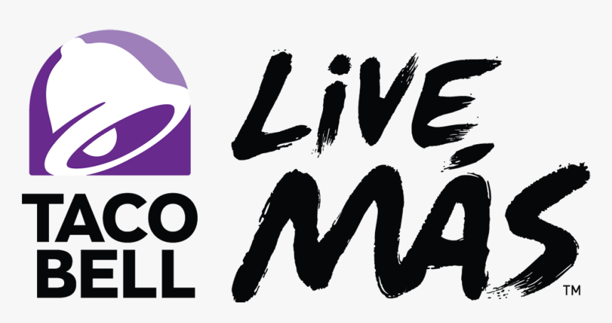 Taco Bell Logo - Taco Bell Live Mas Png, Transparent Png, Free Download