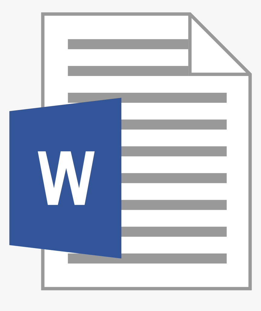 Transparent Word Doc Icon, HD Png Download - kindpng