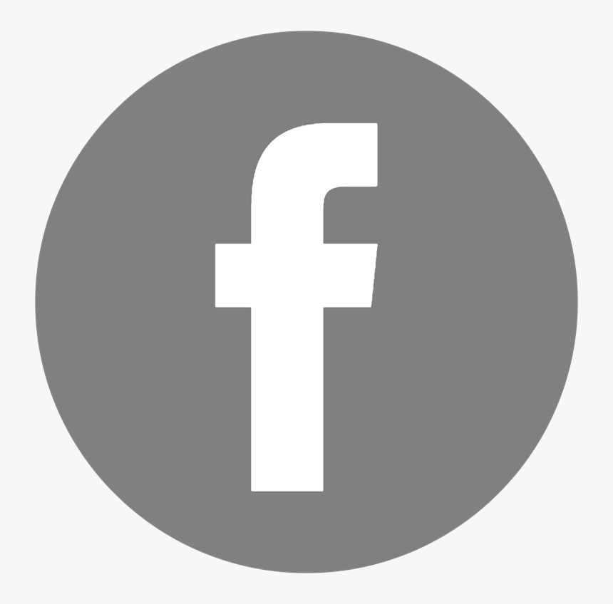 Facebook Logo Png Gray, Transparent Png, Free Download