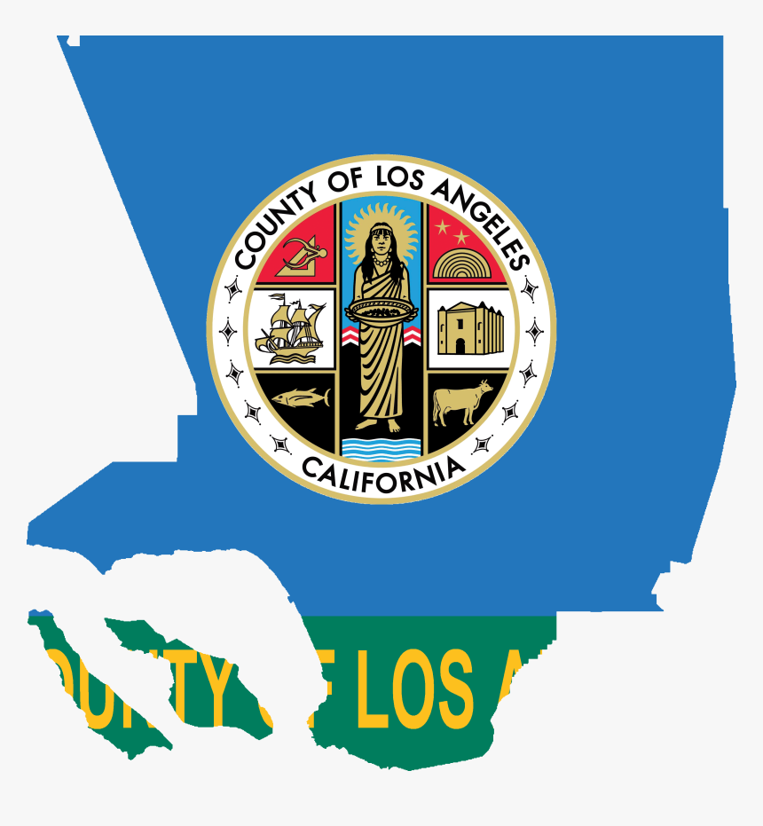 Flag Map Of Los Angeles County, California - Seal Of Los Angeles County, California, HD Png Download, Free Download