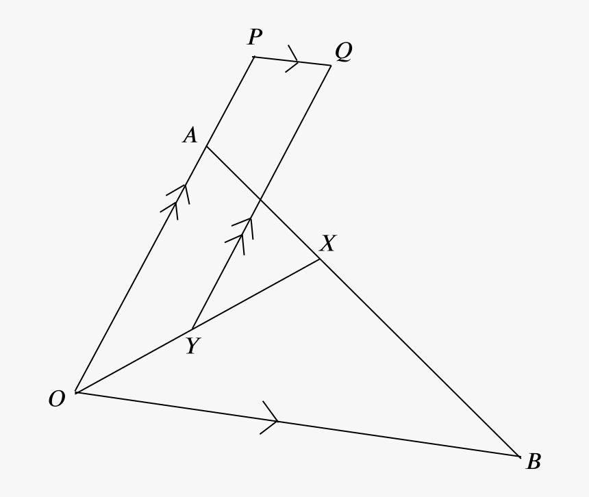 The Triangle Oab With Points Added - Triangle, HD Png Download, Free Download