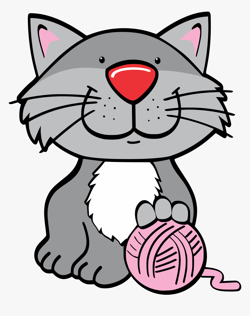 19 Cat With Yarn Clip Art Freeuse Library Huge Freebie - Cute Cat Clipart Png, Transparent Png, Free Download