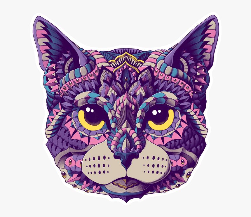 Cat Head Sticker - Cat Head Sticker Png, Transparent Png, Free Download
