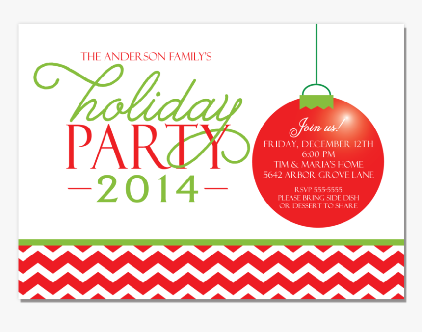 Holiday Party Red Chevron, HD Png Download, Free Download