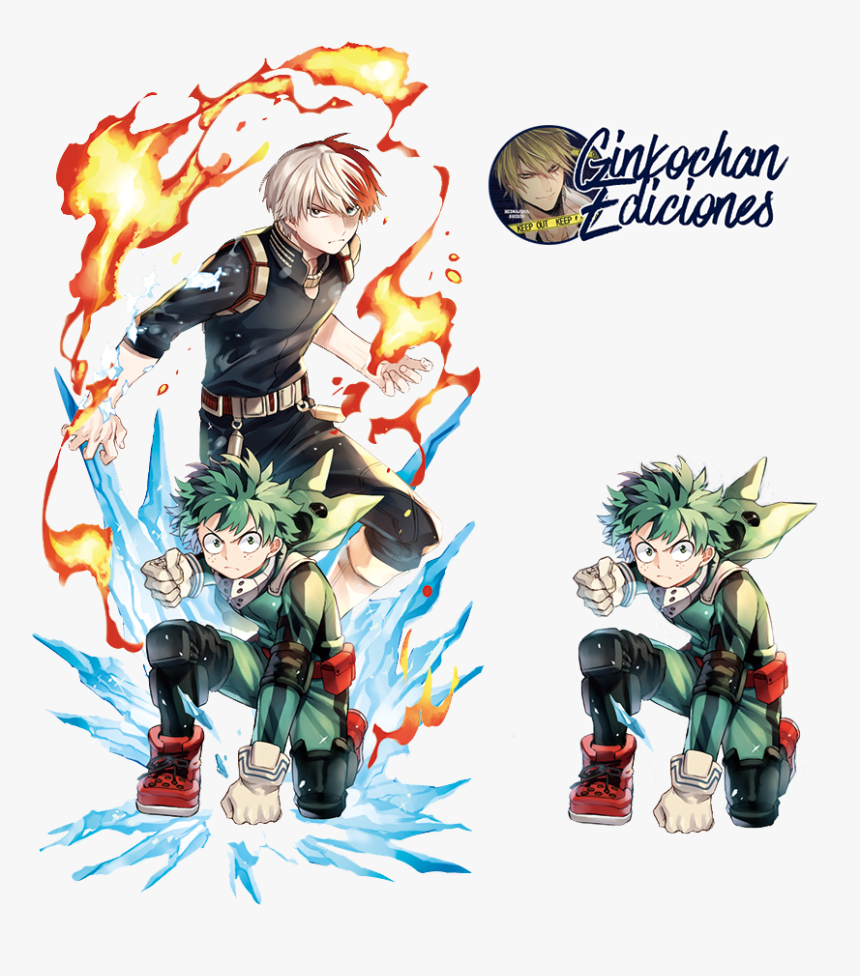 My Hero Academia Todoroki And Deku Png Download My Hero