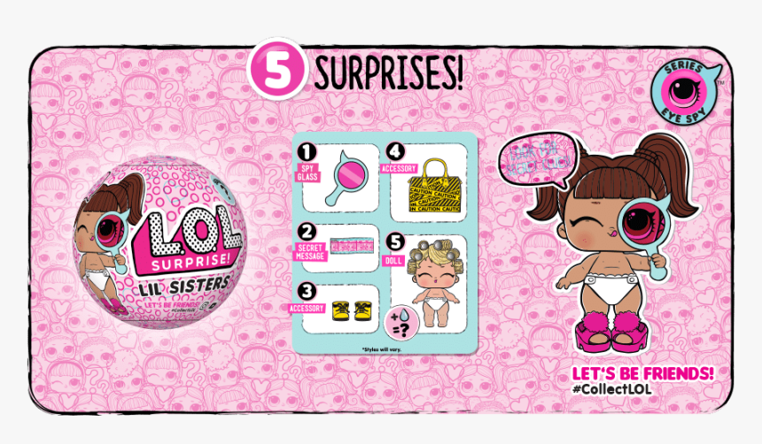 Surprise Eye Spy Lil Sisters 2 Pack Doll Ball Wave 2 Series Lol