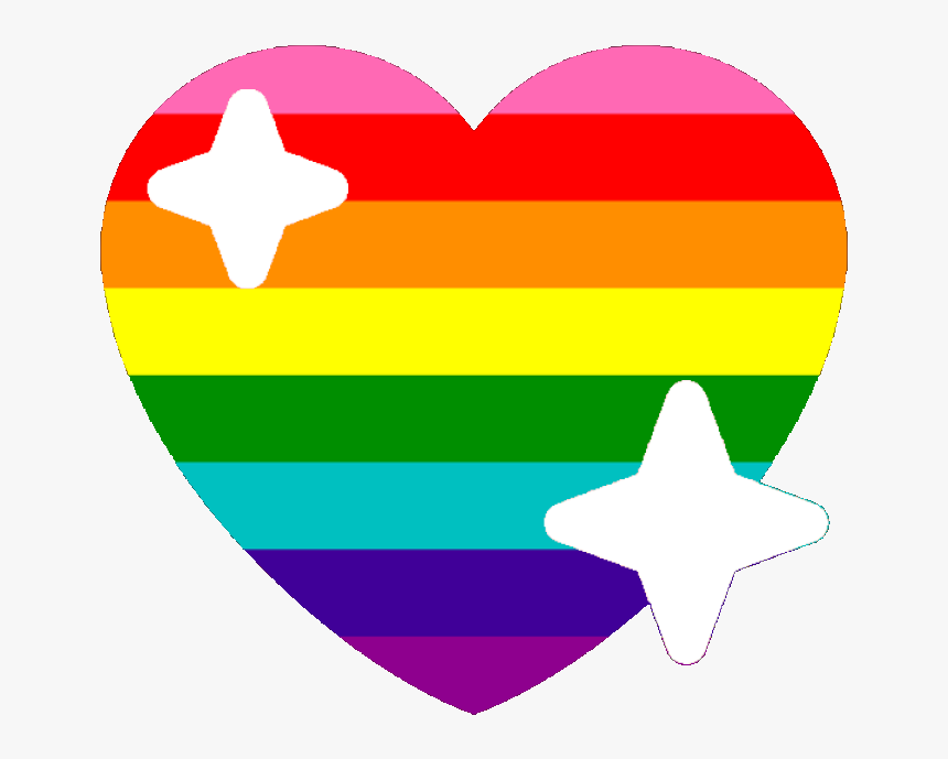 Original Lgbtq Sparkle Heart Discord Emoji - Pride Heart Emoji Discord, HD Png Download, Free Download