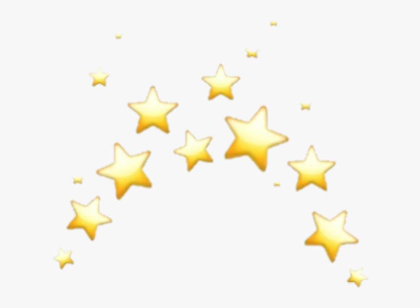 #aesthetic #heart #crown #emoji #tumblr #sparkle - Star Emoji Crown Transparent, HD Png Download, Free Download