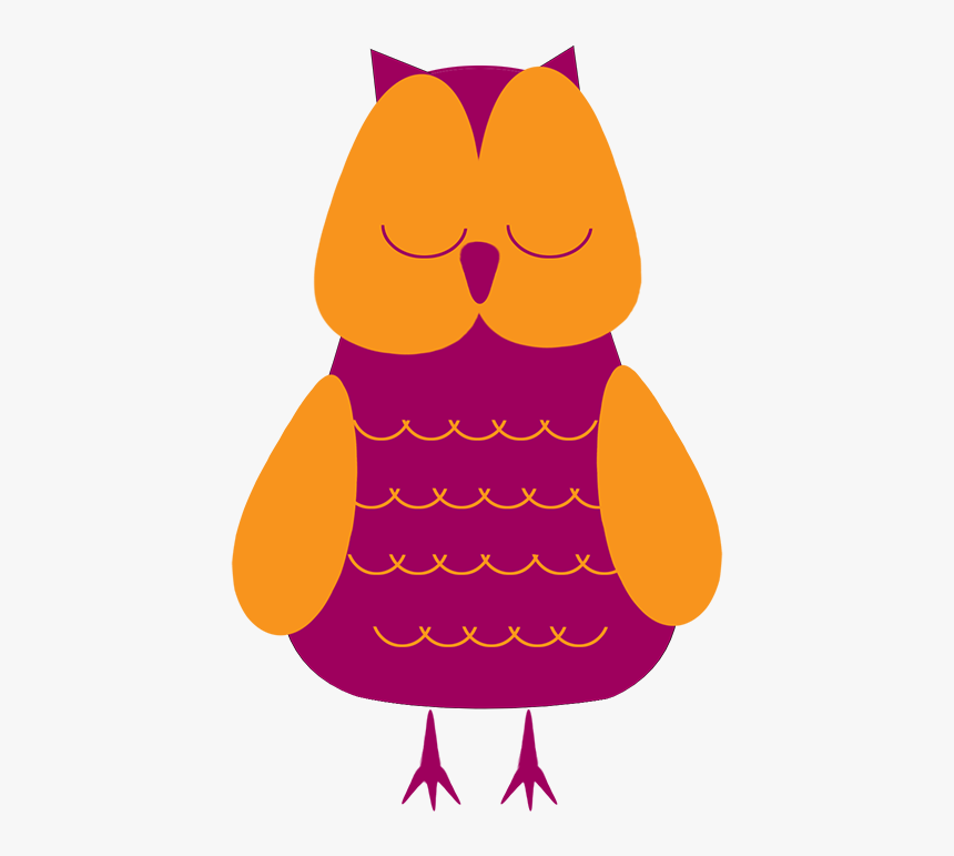 Sleeping Owl Clipart - Sleeping Owl Png, Transparent Png, Free Download