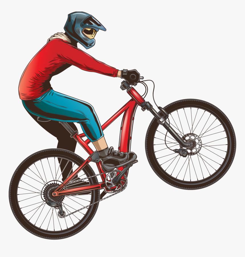 Transparent Biking Clipart - Desenho De Bicicleta Empinando, HD Png Download, Free Download