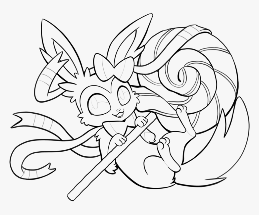Pokemon Coloring Pages Sylveon - Eevee Evolution Pokemon Coloring Pages, HD  Png Download - Kindpng