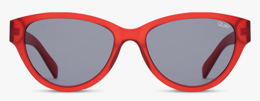 Quay Australia Rizzo Round Sunglasses In Red, HD Png Download, Free Download