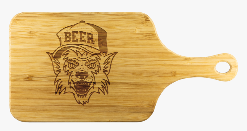 Werewolf Beer Hat Wooden Cutting Board With Handle - Plywood, HD Png Download, Free Download
