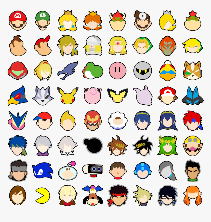 Clip Art Super Smash Bros Ultimate Stickers - Smash Ultimate Stock Icons Png, Transparent Png, Free Download