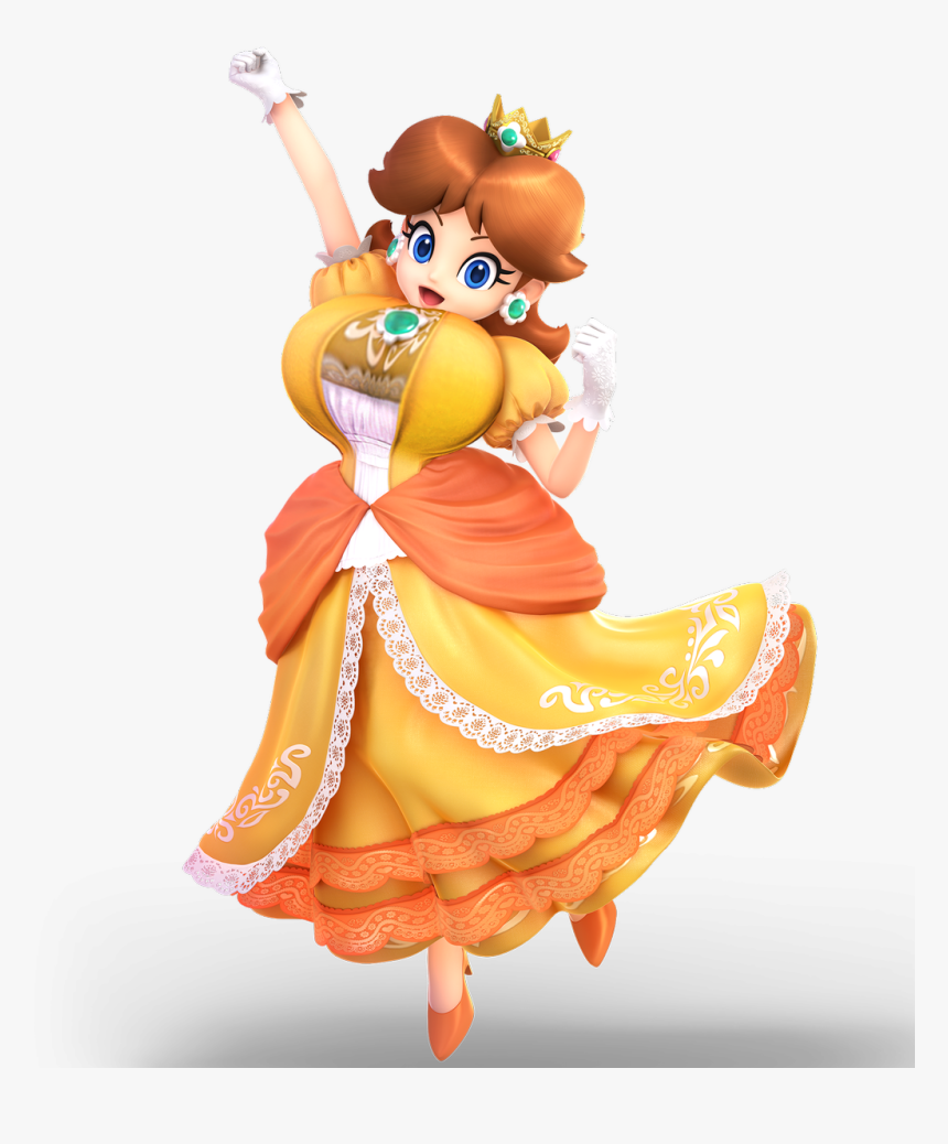 Thiccerwaifus On Twitter - Daisy Super Smash Bros Ultimate, HD Png Download, Free Download