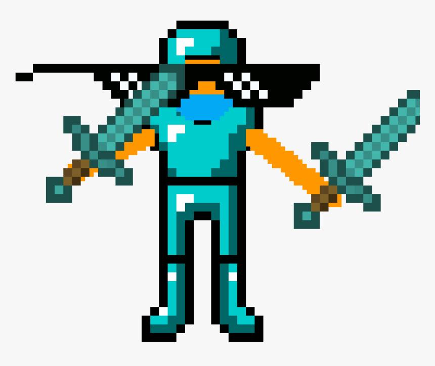 Minecraft Enderman Head & Diamond Sword Costume , Png - Transparent Minecraft Diamond Sword, Png Download, Free Download