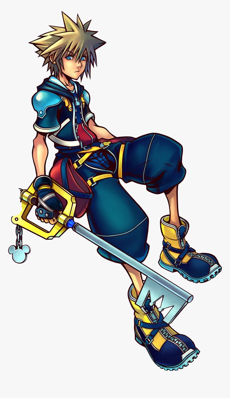 Kingdom Hearts Crown Clipart - Kingdom Hearts 2 Sora Art, HD Png Download, Free Download