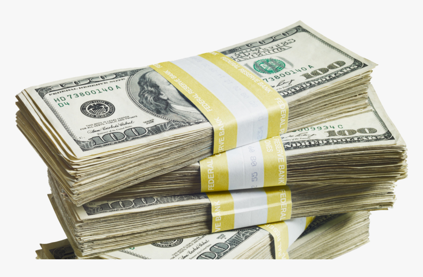 Money United States Dollar United States One Dollar - Stacks Of Cash Png, Transparent Png, Free Download