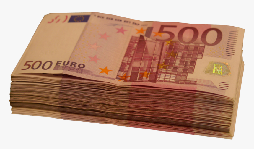 500 Euro Note Euro Banknotes Money 10 Euro Note - Stack Of 500 Euro, HD Png Download, Free Download