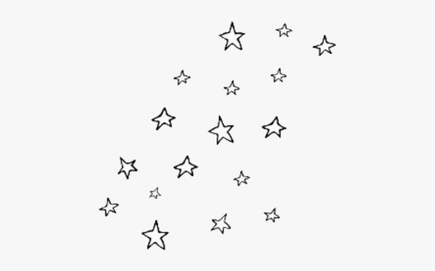 Star Png Tumblr - Black And White Star Stickers, Transparent Png, Free Download