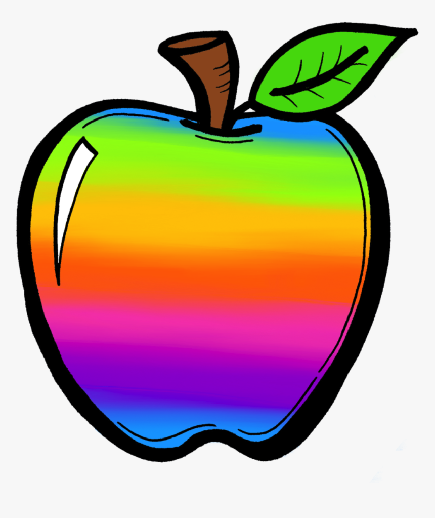 Cliparts For Free Rainbow Apple Clipart Hd Png Download Kindpng