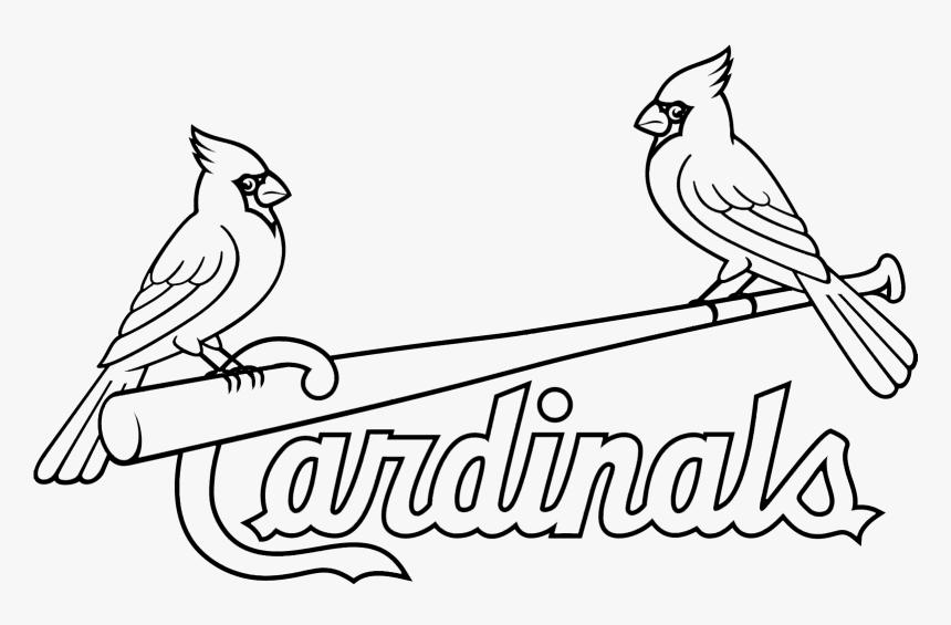 Louis Cardinals Logo Stencil - Stl Cardinals Logo Black And White, HD Png Download, Free Download