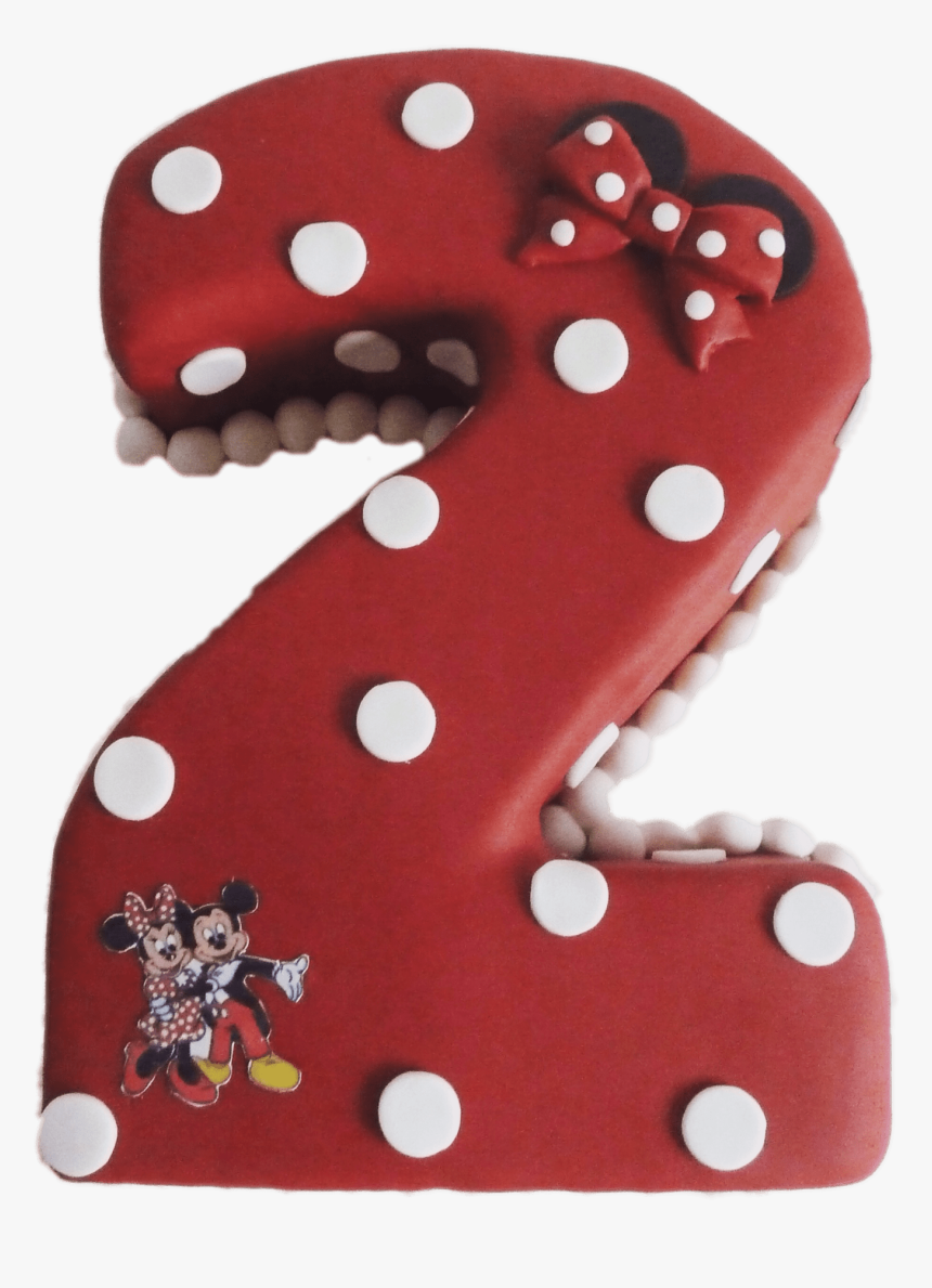 Minnie Mouse Number 2 Cake - Polka Dot, HD Png Download, Free Download