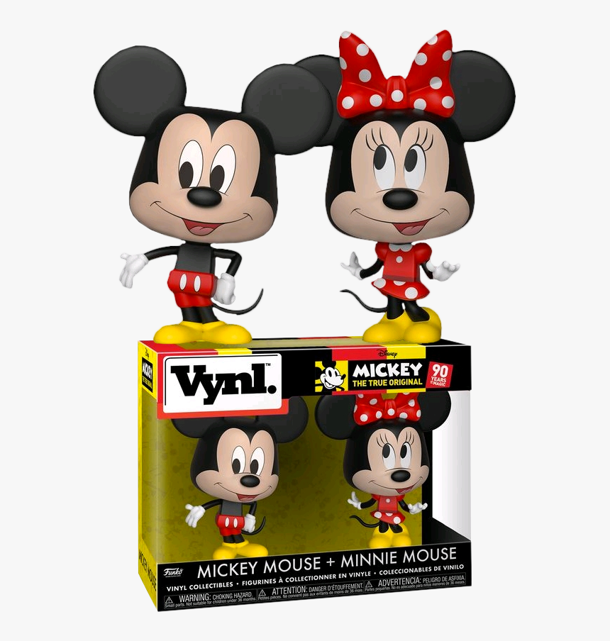 Disney Mickey Mouse & Minnie Mouse Vynl Figure 2-pack - Funko Vinyl Mickey And Minnie, HD Png Download, Free Download