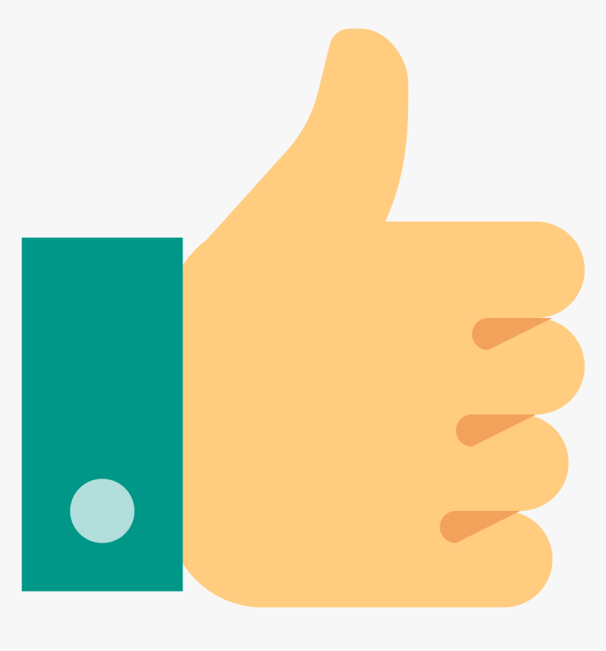 Thumb Up Icon Color - Thumbs Up Png, Transparent Png, Free Download