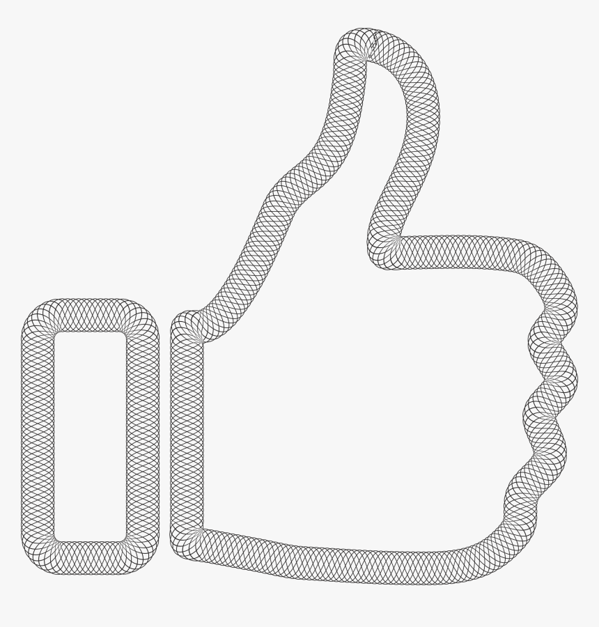 Line,thumb,thumb Signal - Silver Thumbs Up Icon, HD Png Download, Free Download