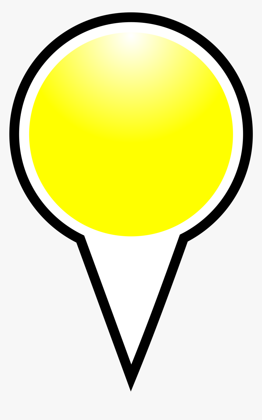 Squat Marker Yellow Clip Arts - Place Marker Pointer Png, Transparent Png, Free Download