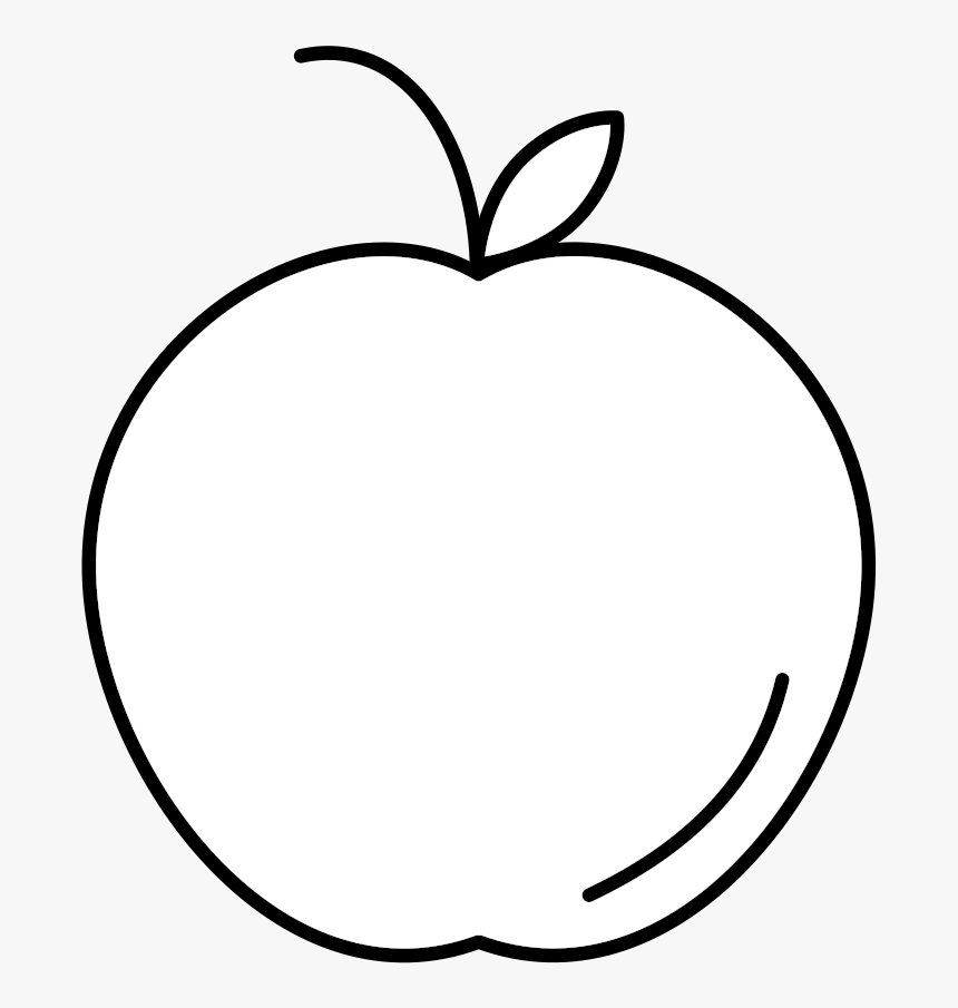 Apple Icon White Line Art Hd Png Download Kindpng