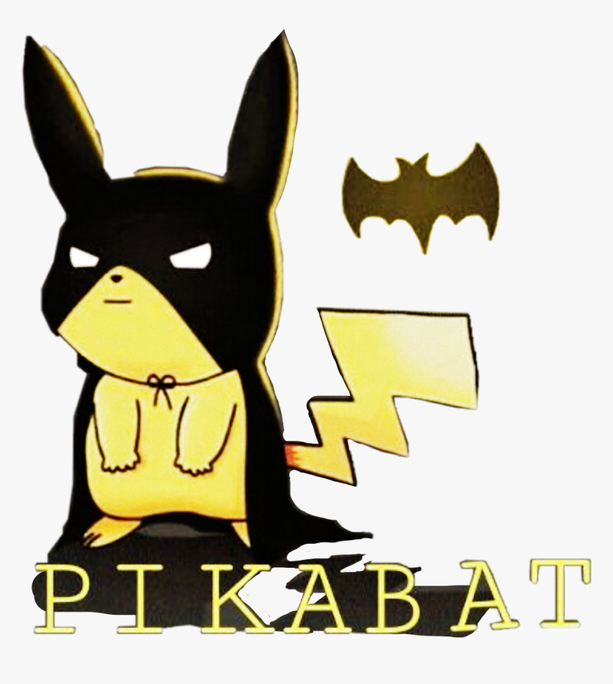 Pikachu Pokemon Batman Mask Word Text Funny Sticker - Batman Pikachu, HD Png Download, Free Download