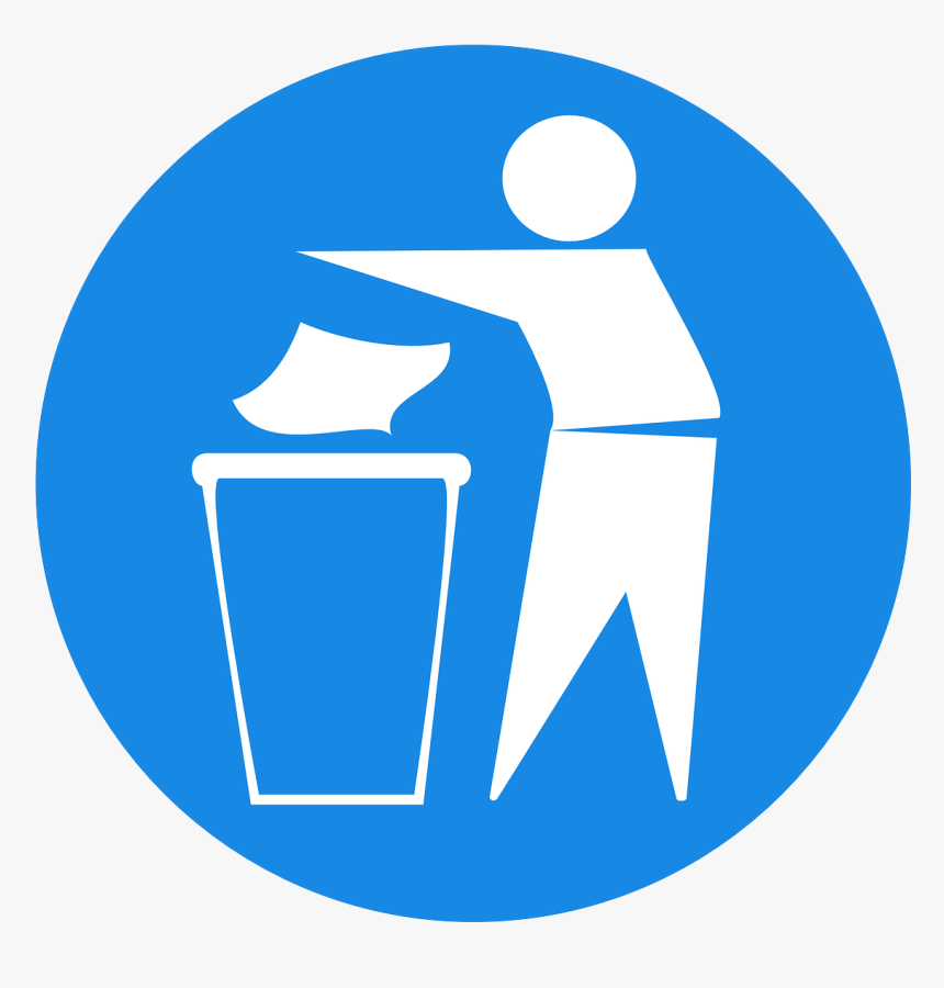 Throw Paper Towel In Trash, HD Png Download, Free Download