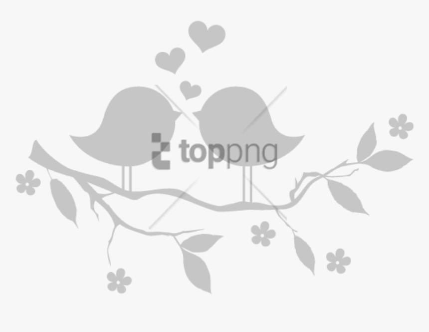 White Black And Dessin Oiseau Sur Une Branche En Couleur Hd Png