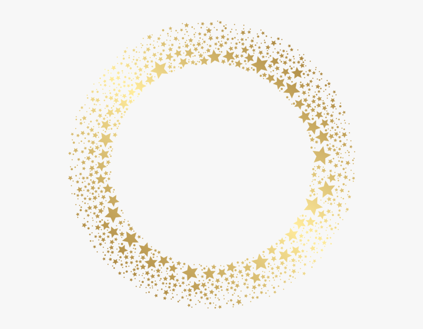 #frame #border #wreath #circle #round #stars #twinkle - Gold Stars Border Png, Transparent Png, Free Download