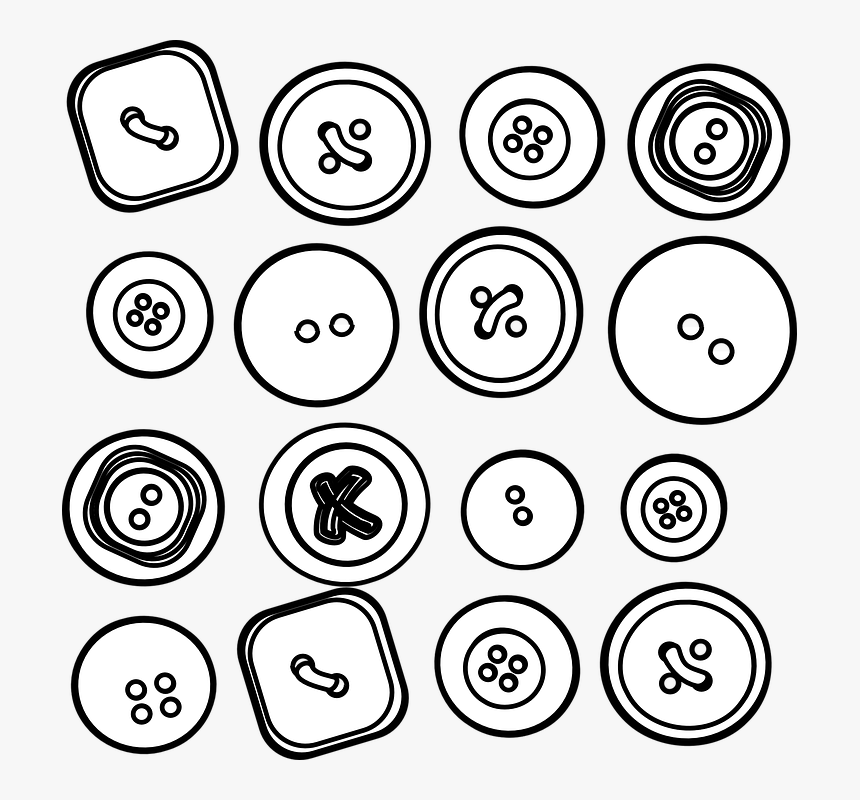Sixteen Clip Art At - Buttons Clip Art, HD Png Download, Free Download