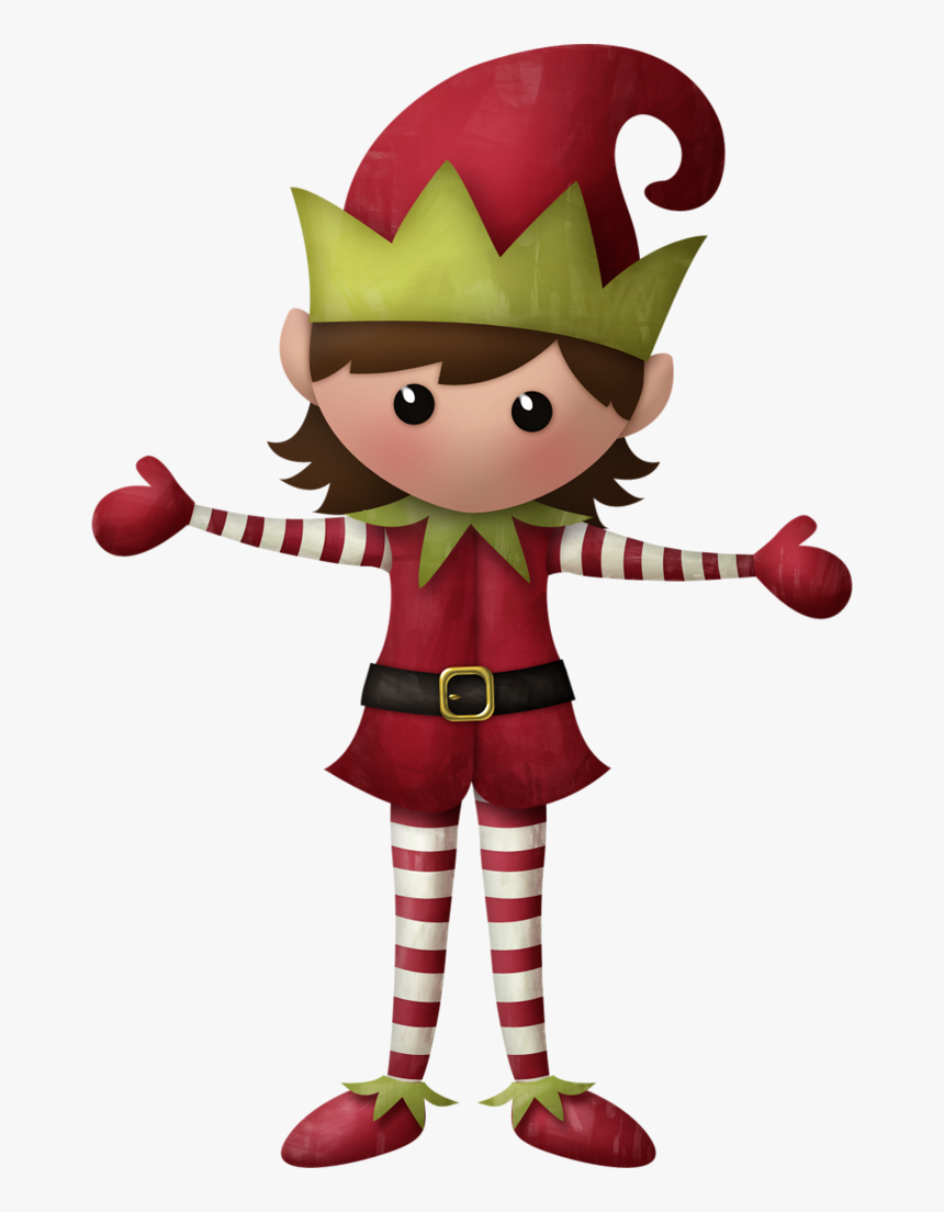 Female Clipart Christmas Elf, HD Png Download, Free Download