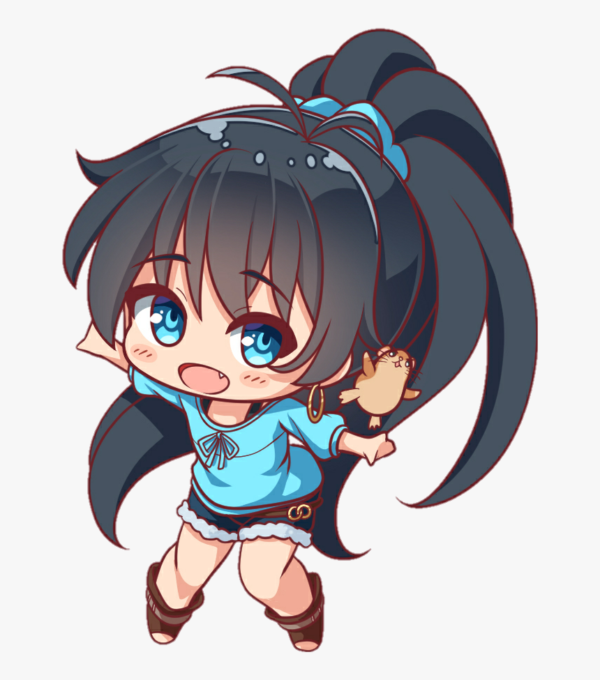 Kawaii Anime Animegirl Cute Chibi Loli Waifu Verycute - Cute Chibi Anime Girl, HD Png Download, Free Download