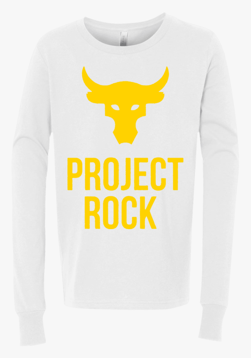 The Rock Dwayne Johnson Project Rock 3501y Bella Canvas - Long-sleeved T-shirt, HD Png Download, Free Download