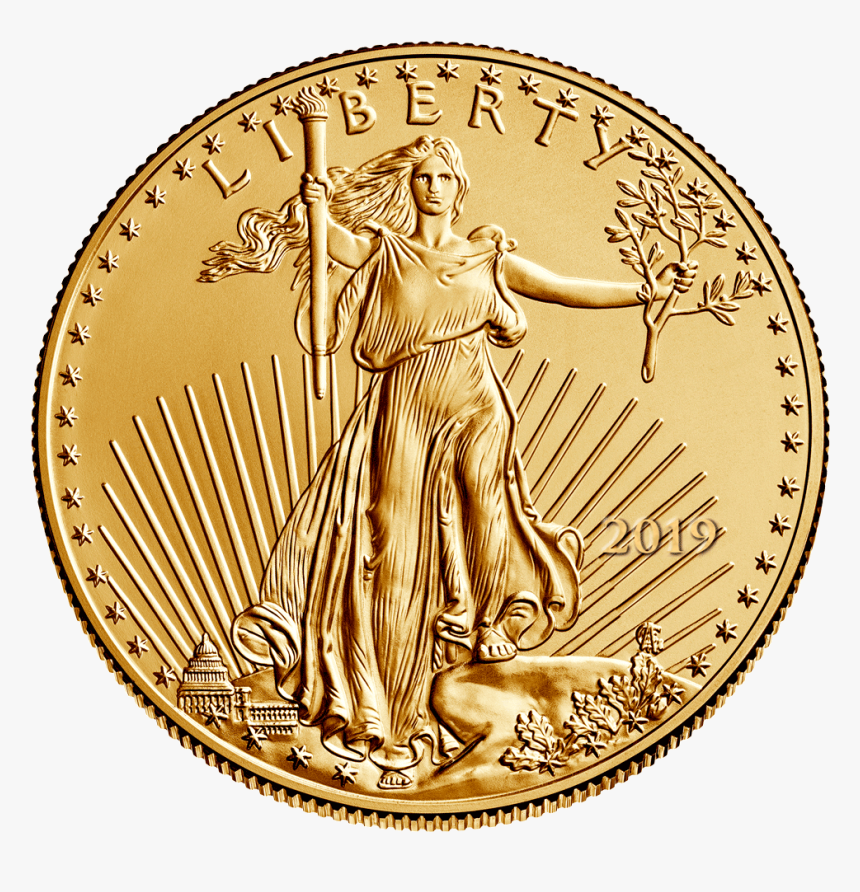 2019 $5 American Eagle Gold, Bu Mint Condition Montgomery - Gold Coin 50 Dollars American Gold Eagle 1986, HD Png Download, Free Download