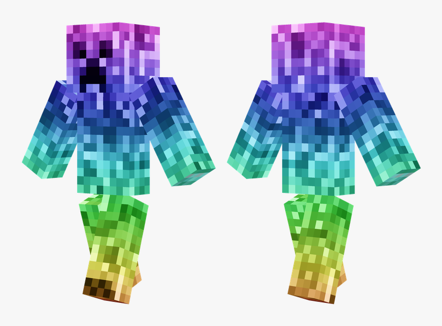 Creeper Minecraft Pe Skin, HD Png Download, Free Download