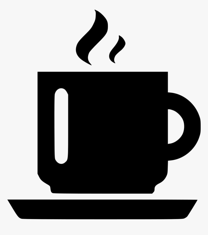 Coffee Mug Steam With Plate - Coffee Mug Icon Png, Transparent Png, Free Download