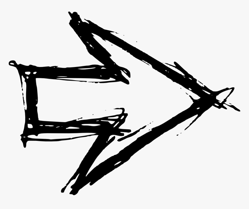 Hand Drawn Arrow - Hand Drawn Arrow Transparent Background, HD Png Download, Free Download